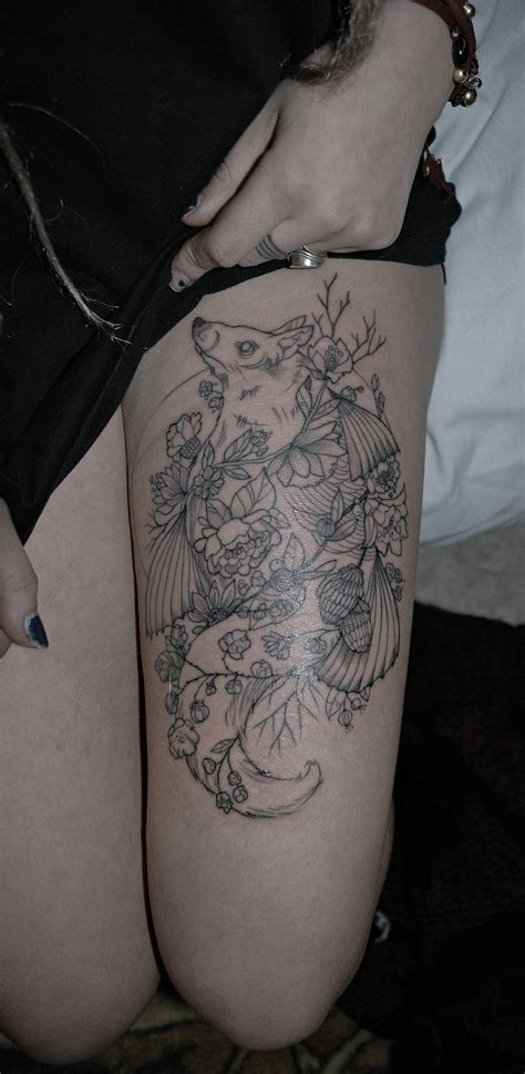 girl tattoos on thigh leg best design ideas