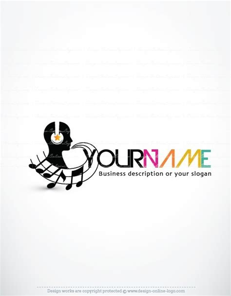 design free music logo exclusive design dj music logo free business card