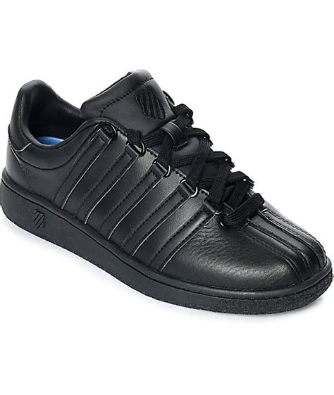 k swiss classic shoes k swiss classic vn all black shoes zumiez