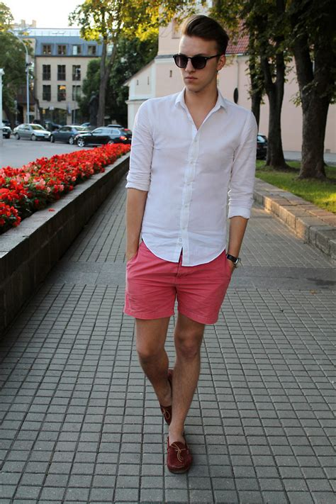 loafers with shorts zygintas skardziukas sun glasses zara shirt asos coral
