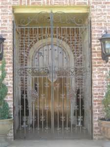 Iron Gate Front Door Our Wrought Iron Front Porch Gates Can Make That Grand Entrance Into Your Home Even Grander