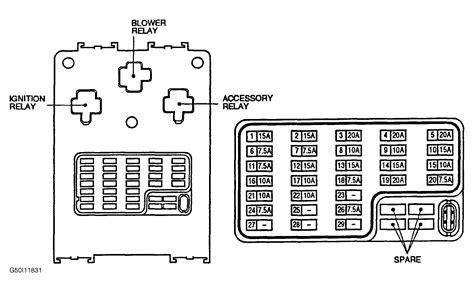 Wrg 7297 2001 Nissan Pathfinder Fuse Box