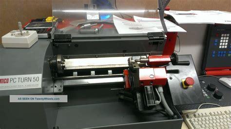 emco pc 50 turn cnc lathe 3000rpm fanuc o controls 6 tool