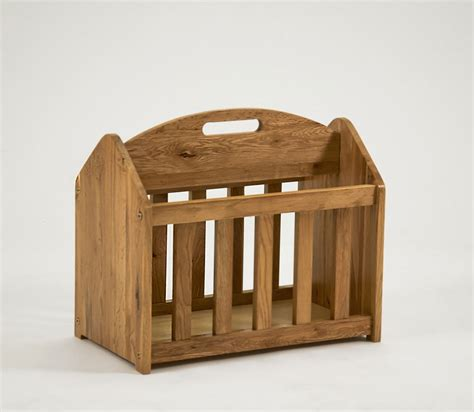 Magazine Rack by Lansdown Oak Magazine Rack Oak Furniture Solutions