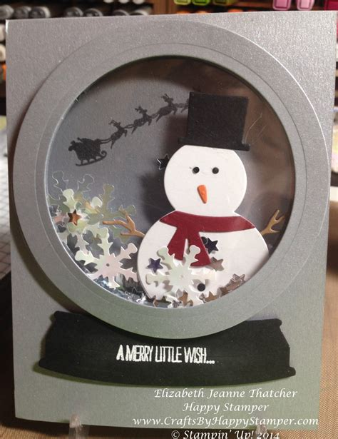 how to make a snow globe card snow globe shaker card crafts by happy ster
