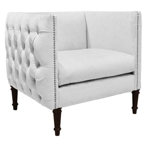 skyline furniture velvet fabric accent 37 white modern accent chairs for the living room