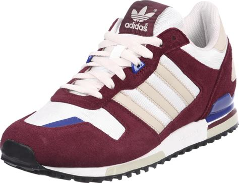 adidas zx  shoes maroon white blue