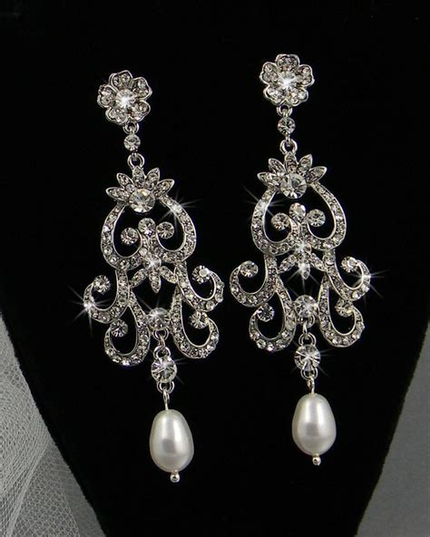best 25 bridal chandelier earrings ideas on