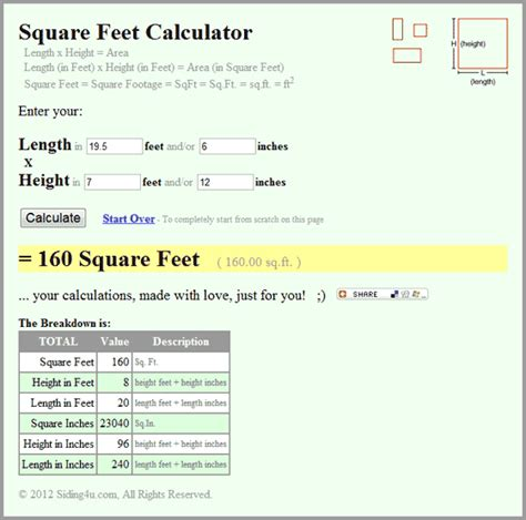 calculate area square feet cute movies teens