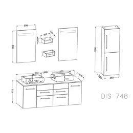 meuble de rangement salle de bain 1559 dis748b plan meuble salle de bain blanc
