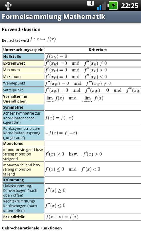 formelsammlung mathematik ein buecherersatz androidpit