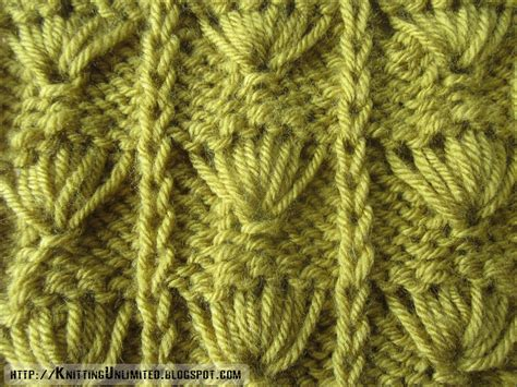 slip stitch seam knitting palm leaf pattern knitting unlimited