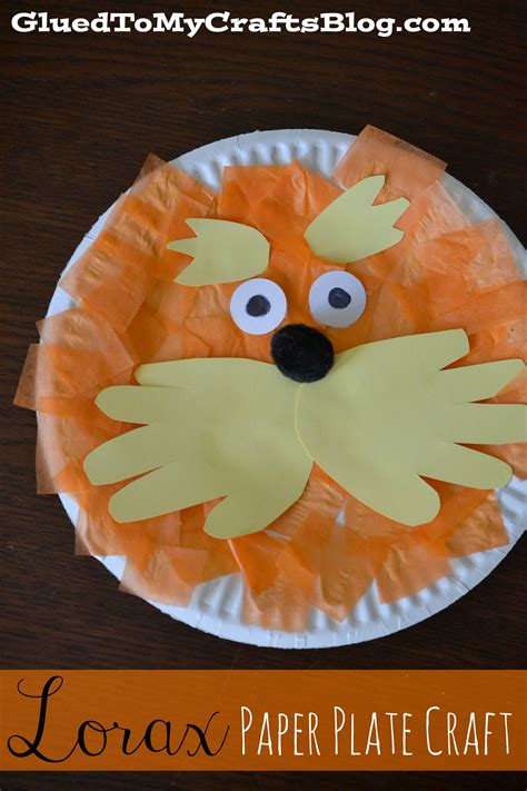 dr seuss crafts for lorax paper plate craft a owl