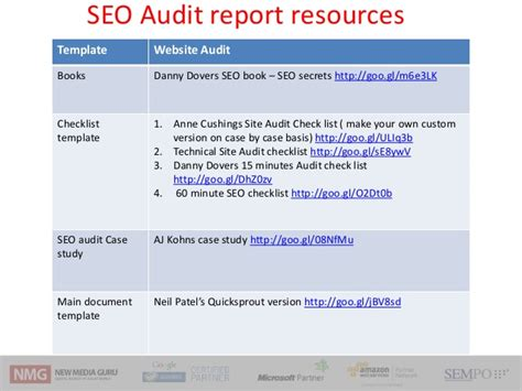 Seo Audit Workshop Frameworks Techniques And Tools Seo Audit Template