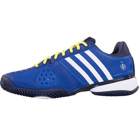 adidas novak pro s tennis shoe blue yellow