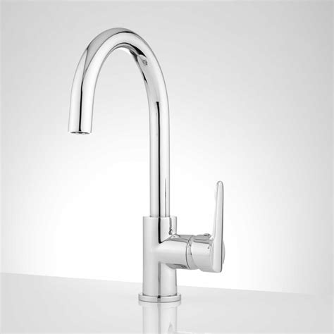 signature hardware kitchen indigo single hole kitchen faucet with dual function