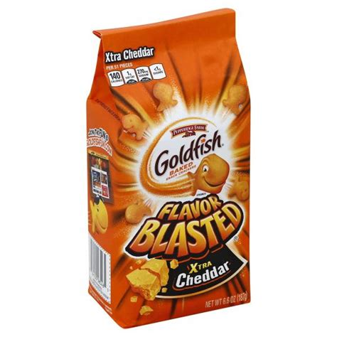Goldfish Baked Snack Goldfish Flavor Blasted Baked Snack Crackers Xtra Cheddar