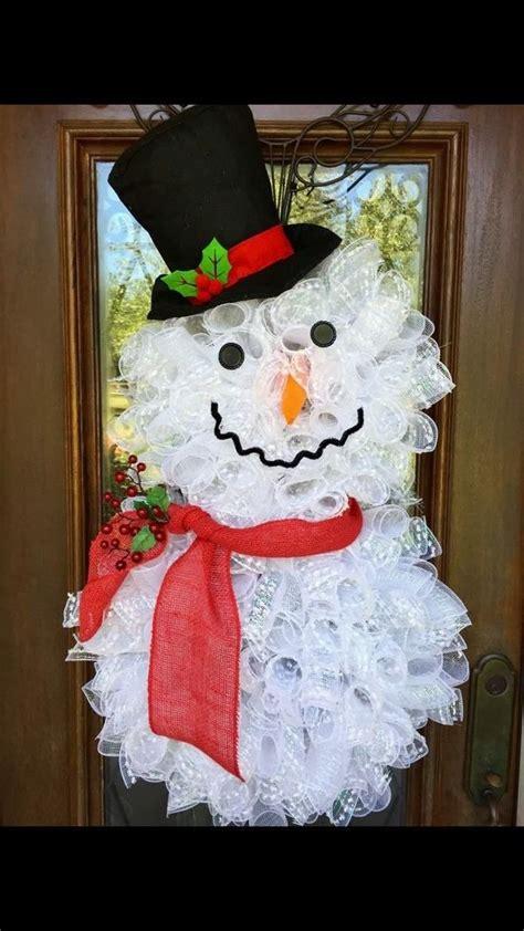 snowman wreath ideas     gorgeous christmas