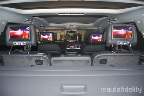rear seat headrest car speakers audio system