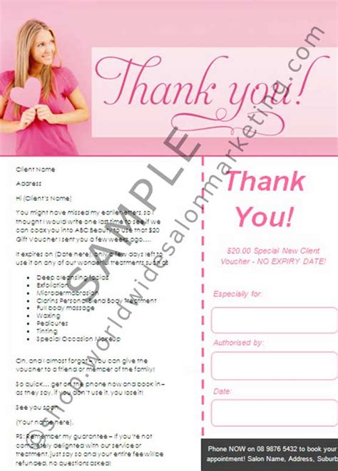 thank you letter to salon client thank you quotes for clients in salon quotesgram
