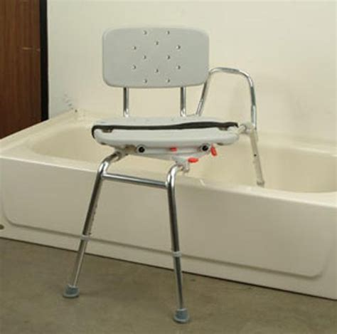 transfer bath bench with back snap n save sliding transfer bench swivel seat back