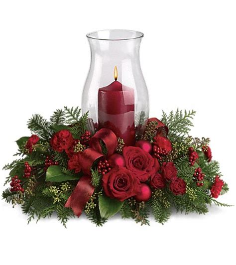 order your holiday glow centerpiece t115 3a all flowers