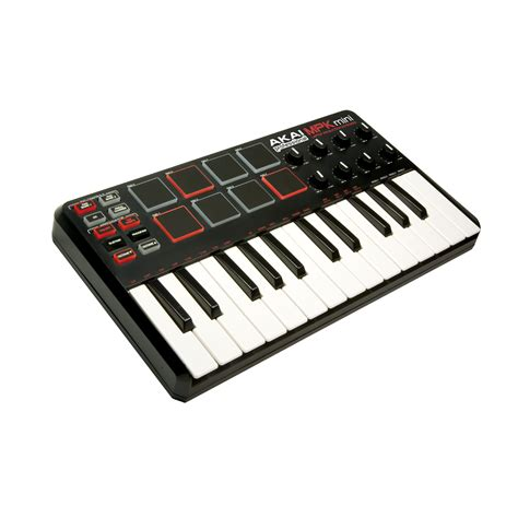 akai mpk mini midi usb controller keyboard midi controllers from inta audio uk