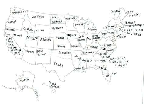 us map without cities we asked brits to label the united states again because