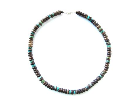 tribal turquoise a luxury wooden mens necklace