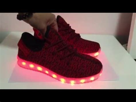 light up yeezy boost 350 led light shoes yeezy boost 350 youtube