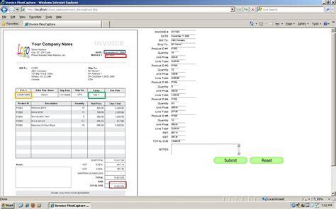 data capture card template invoice data capture invoice template ideas