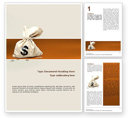money bag word template 02516 poweredtemplate com