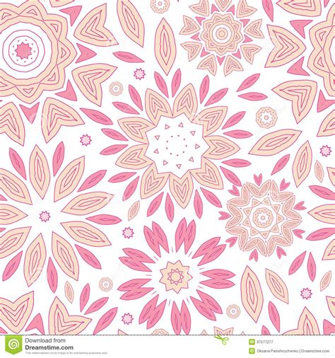 flower pattern abstract pink abstract flowers seamless pattern background stock