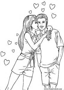desenhos pintar colorir dos namorados imprimir desenho 001