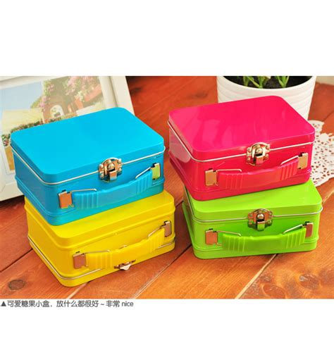 Color Box 4 In 1 1 6 4 colour luggage suitcase mteal box jewelry box 1 6