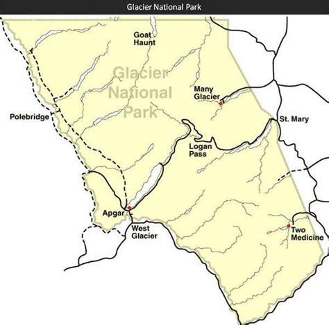 map of glacier national park glacier national park trail maps