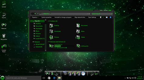 themes windows 10 skin aliengreen skin pack skinpack customize your digital world