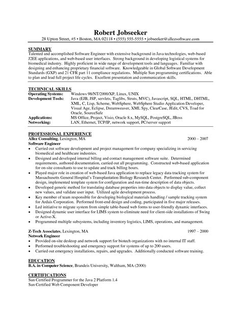 Java Swing Developer Sle Resume by Java J2ee Resume Format 28 Images Best Resume Sle Resume Exle Resume Surendra Java Sle
