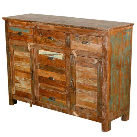 pedro rustic reclaimed wood  drawer sideboard