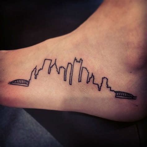 watercolor tattoo pittsburgh best 25 pittsburgh skyline ideas on