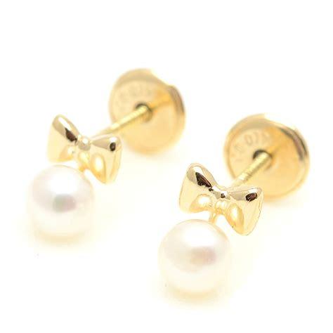 cadenas de oro para bebes precios pendientes oro beb 233 ni 241 a infantil pajarita perla