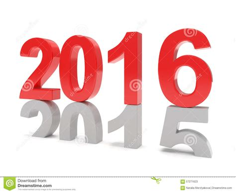 new year date changes 2015 2016 change new year 2016 stock illustration
