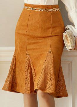 Lace Godet Maxi Skirt suede lace godet skirt styleonme file 1