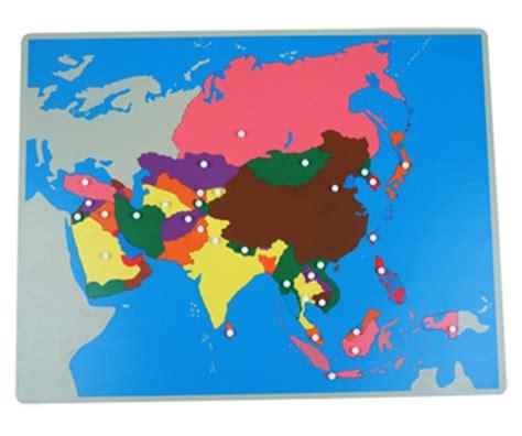 asia map puzzle montessori toys montessori material