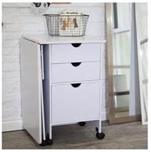 Small Craft Desk Small Home Folding Craft Sewing Machine Table Cabinet Mobile Desk White Ebay