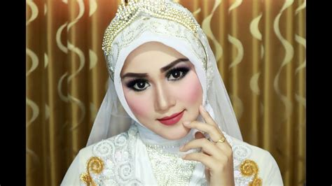youtobe tutorial hijab pengantin cara memakai hijab pengantin simple cantik anggun dan