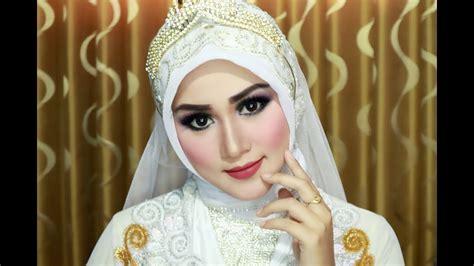 you tube tutorial hijab pengantin cara memakai hijab pengantin simple cantik anggun dan