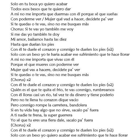 testi in spagnolo bellissima canzone in spagnolo