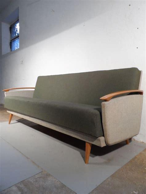 50er 60er jahre sofa kirsch klappsofa daybed mid