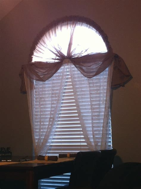 Half Moon Window Curtain Rod 1 Hula Hoop Cut In Half 2